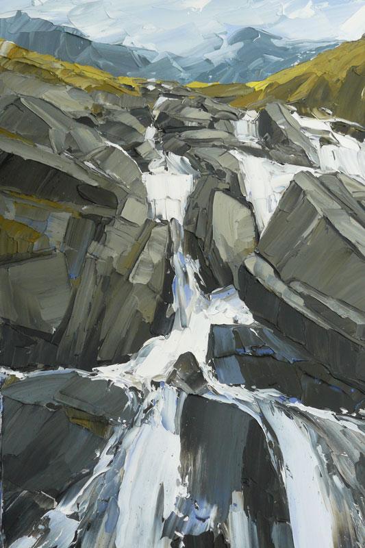 Afon Ogwen, Cwm Idwal 100x70cm