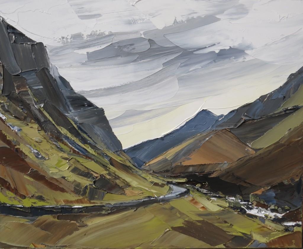 Llanberis Pass, 110x90cm