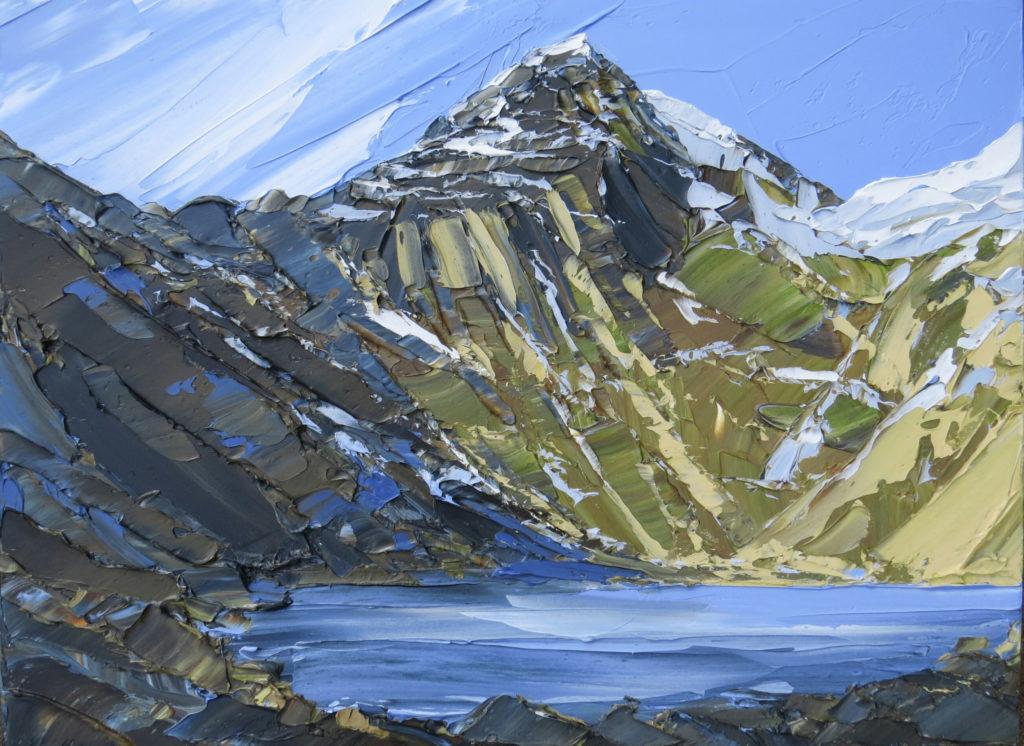 Llyn Glaslyn, Blue Spring acrylic 60x80cm