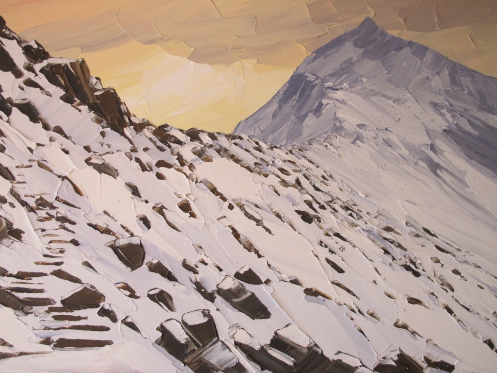 Snow on Crib Goch 110x80cm