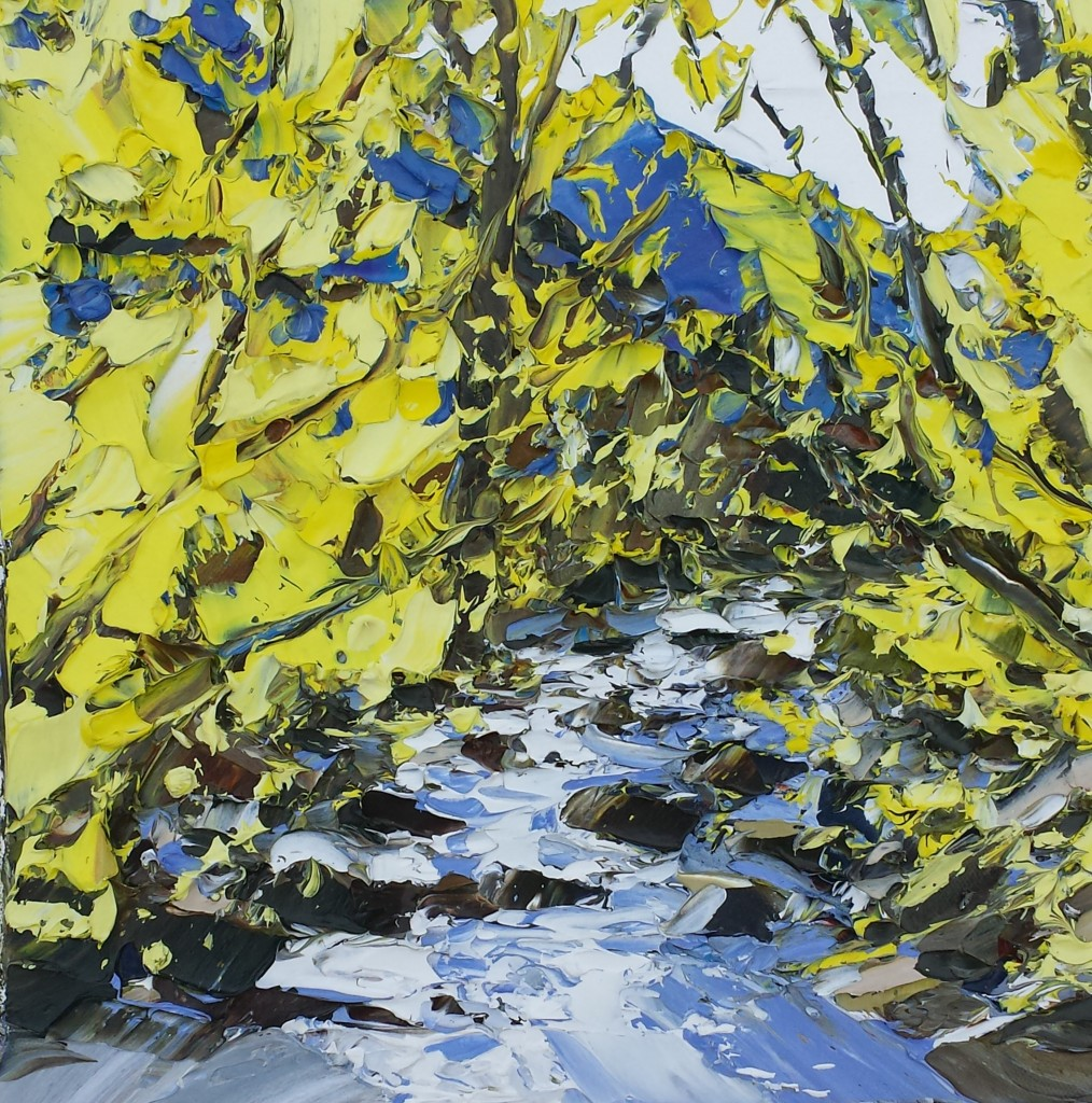Spring Light, Afon Aber 30x30cm