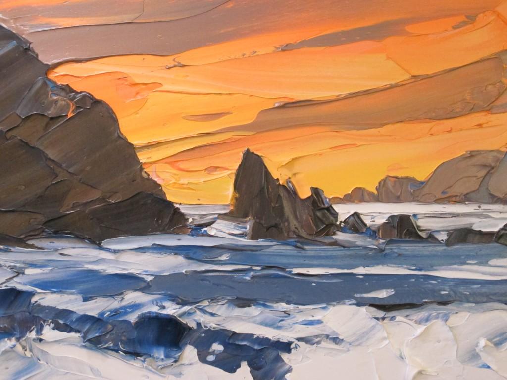 Sunset Porth Dafach 40x50cm