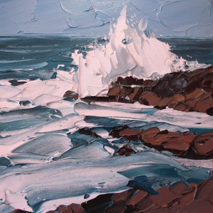 Crashing wave 40x40cm