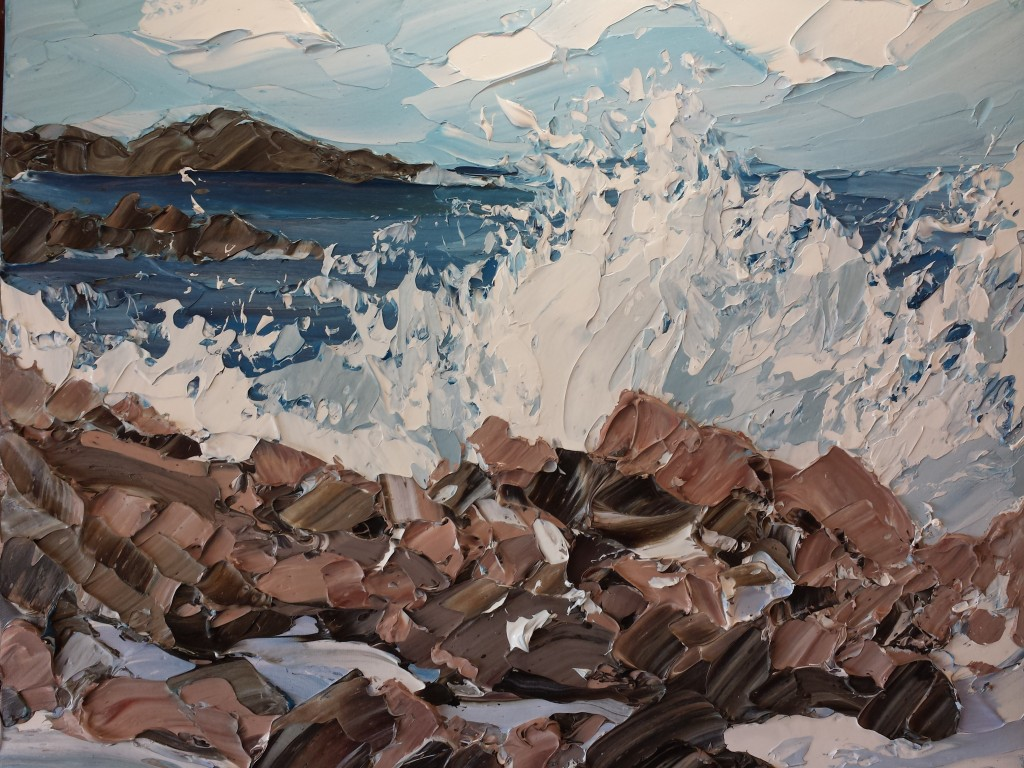 Crashing wave Iona 40x50cm