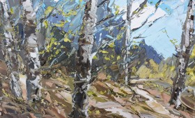 Early Spring Birch 60x60cm