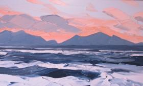 Pink Sky Llanddwyn 50x100cm
