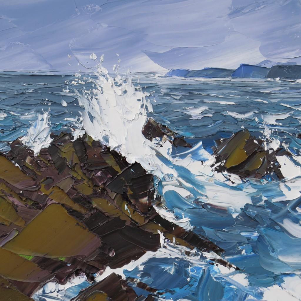 Spring Tide Pembrokeshire 90x90cm