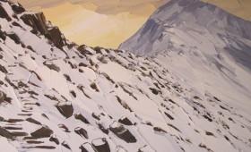 Snow on Crib Goch 110x80cm